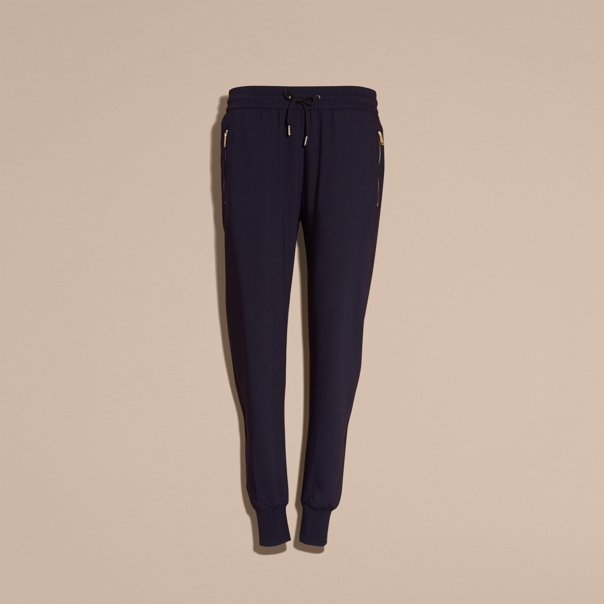Zip Detail Jersey Sweat Pants Navy - gallery image 4