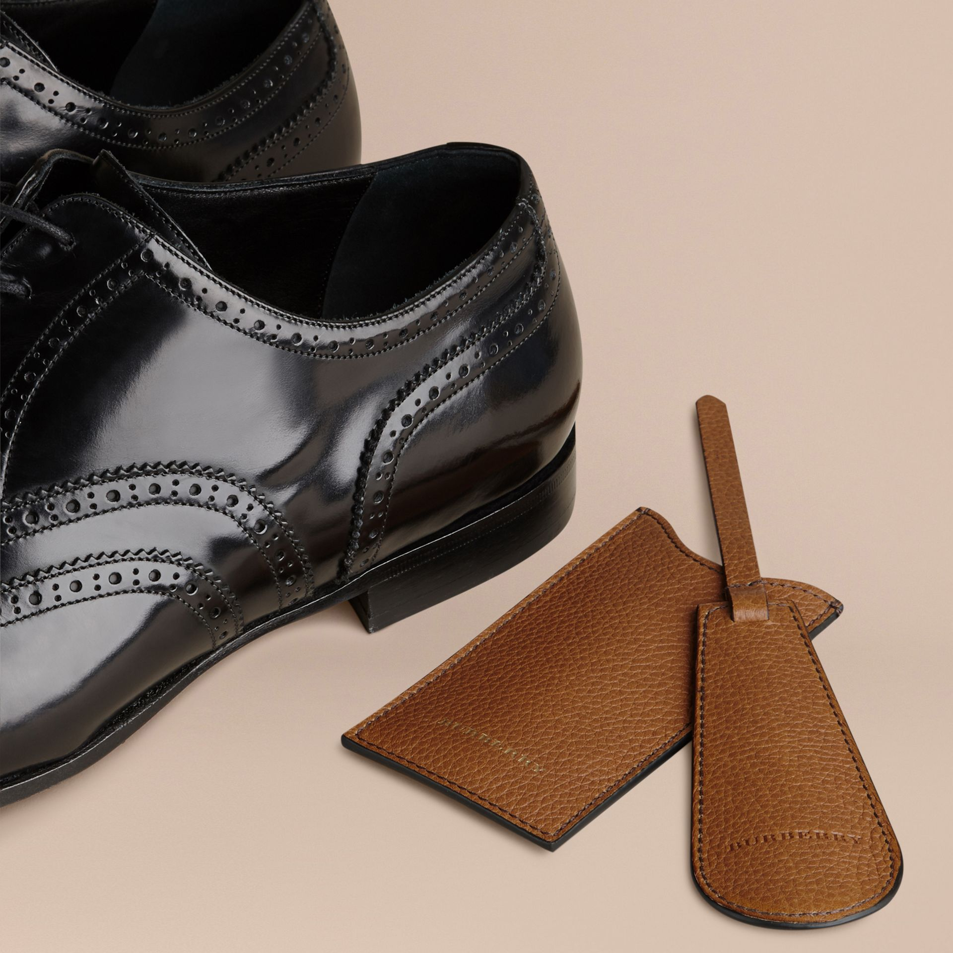 Leather Shoe Horn in Tan - Men | Burberry - gallery image 3