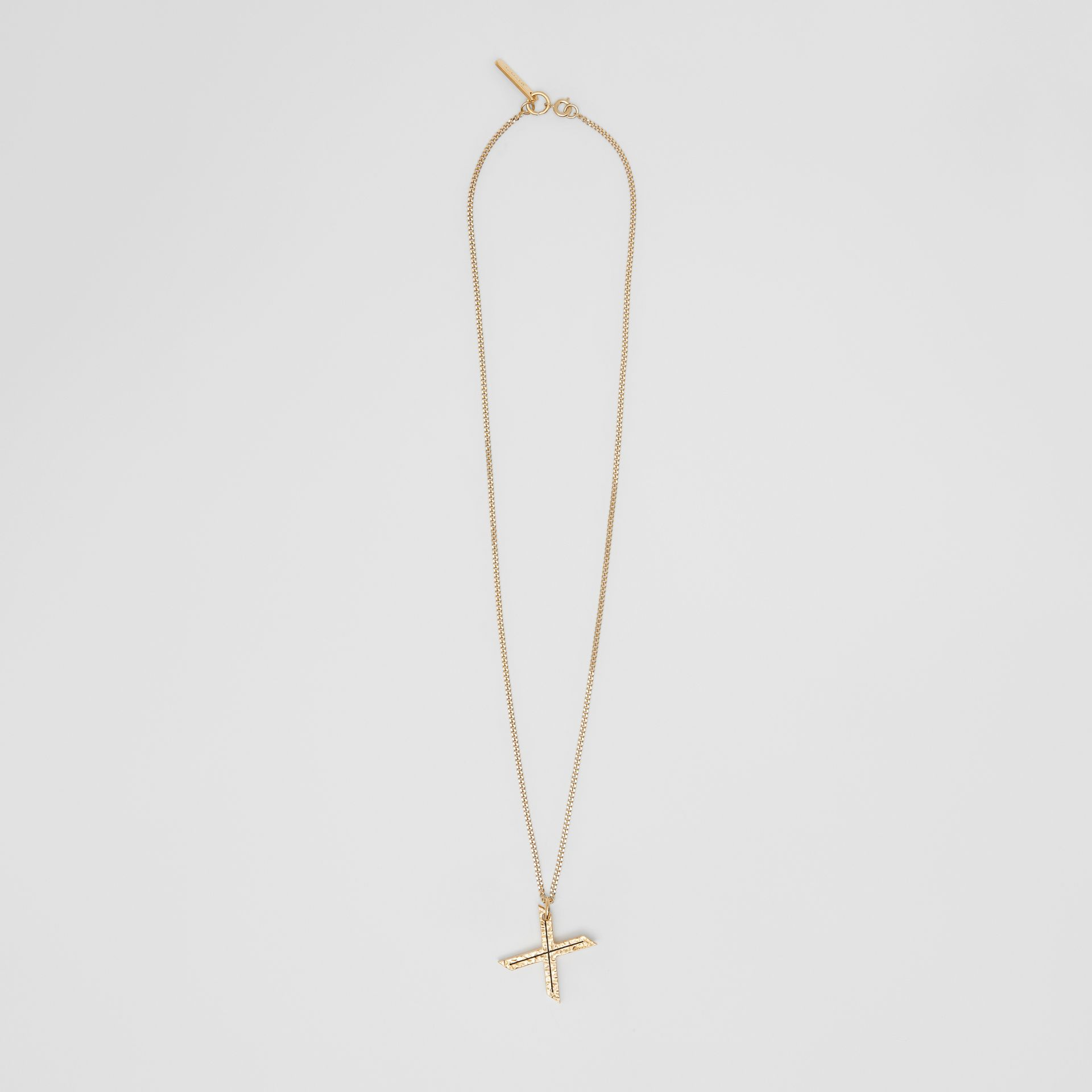 'X' Alphabet Charm Gold-plated Necklace in Light - Women | Burberry United Kingdom - gallery image 0