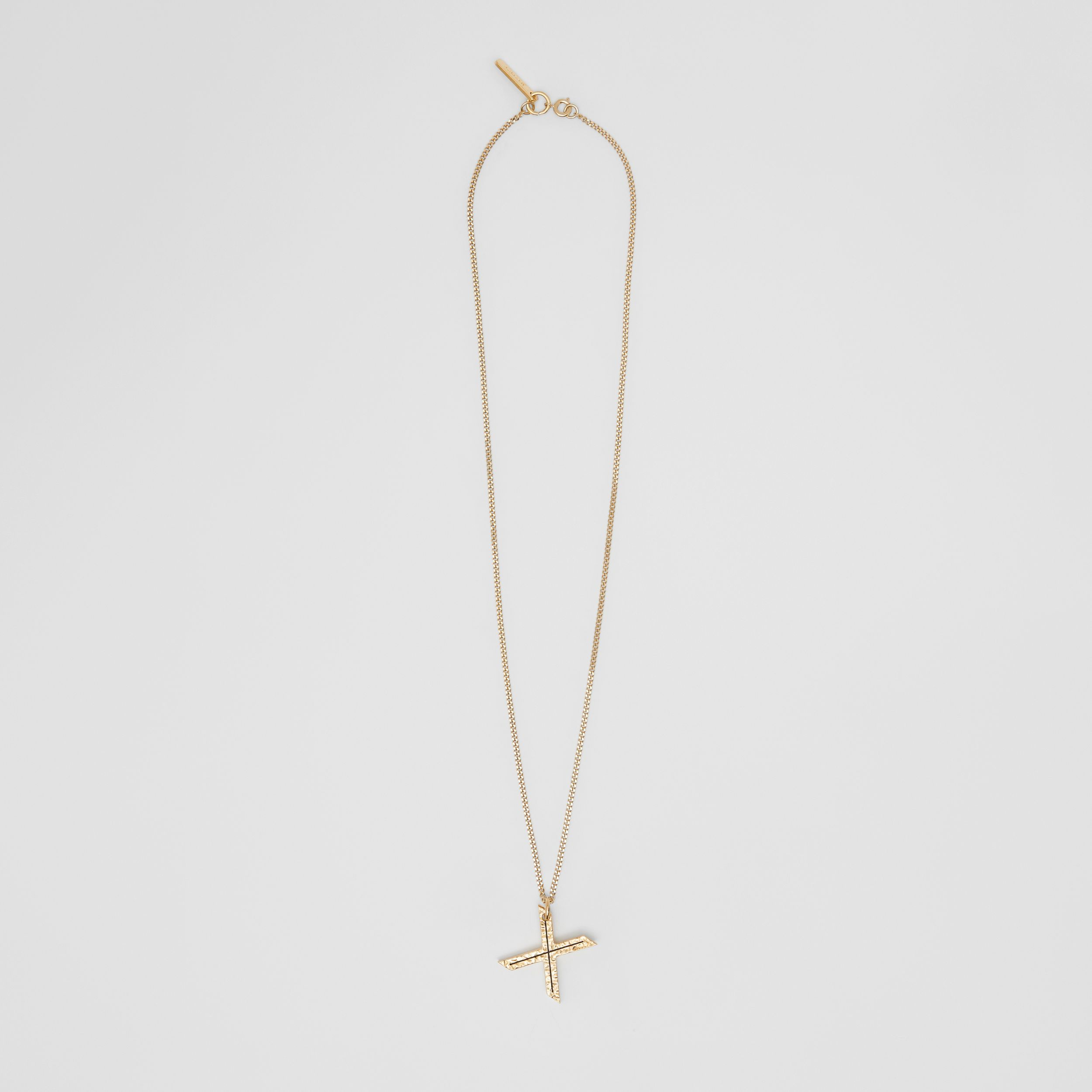 'X' Alphabet Charm Gold-plated Necklace in Light - Women | Burberry - 1