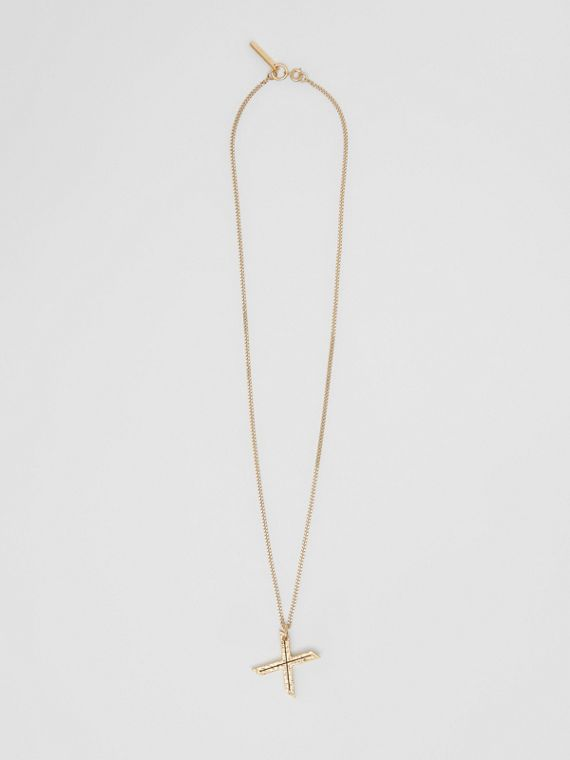 'X' Alphabet Charm Gold-plated Necklace in Light