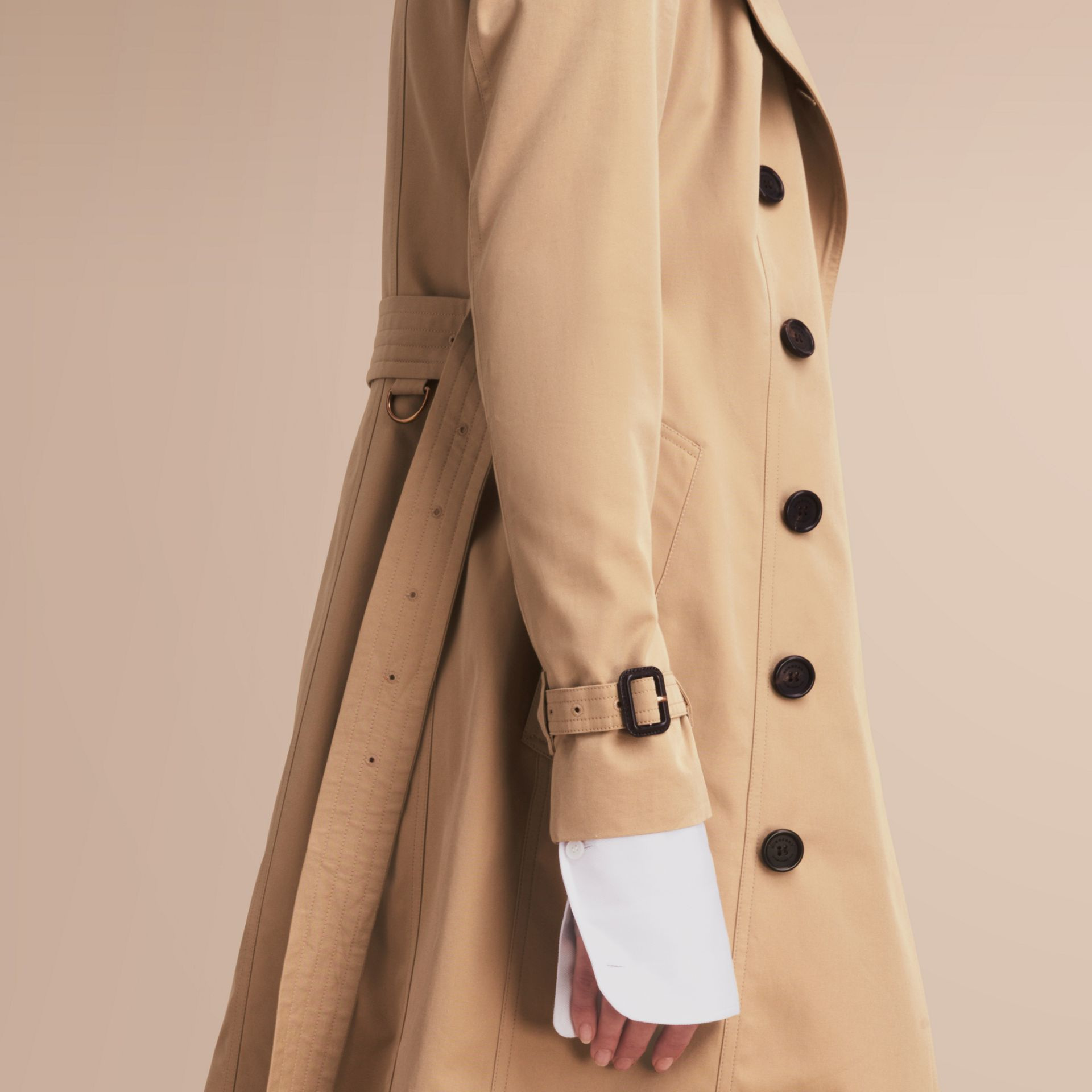 The Sandringham – Mid-Length Heritage Trench Coat Honey - gallery image 5