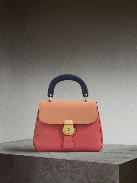 The Medium DK88 Top Handle Bag in Blossom Pink/pale Clementine - Women | Burberry