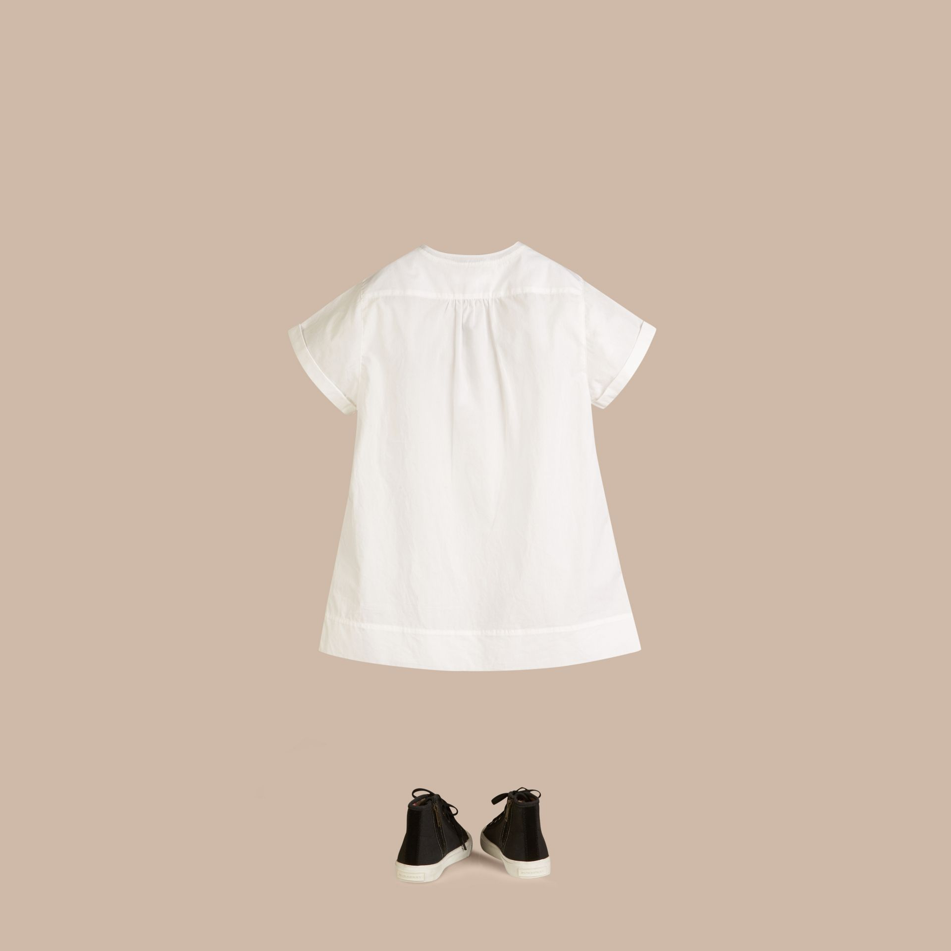 Pintuck Detail Cotton Dress - Girl | Burberry - gallery image 3