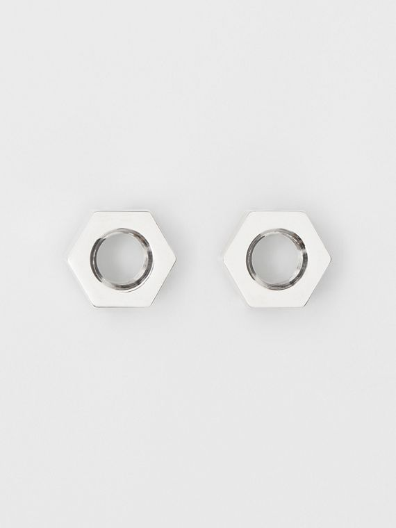 Palladium-plated Nut Earrings in Palladio