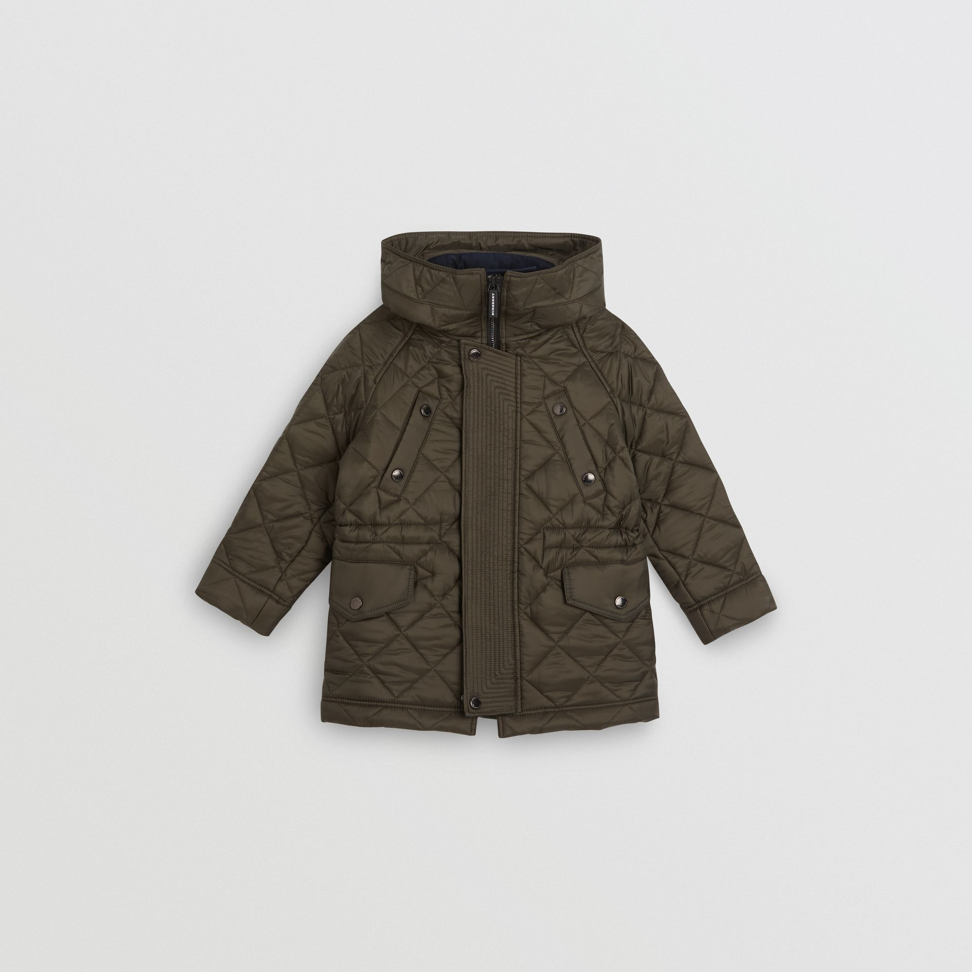 Diamond Quilted Hooded Jacket in Oregano - Boy | Burberry United Kingdom - gallery image 0
