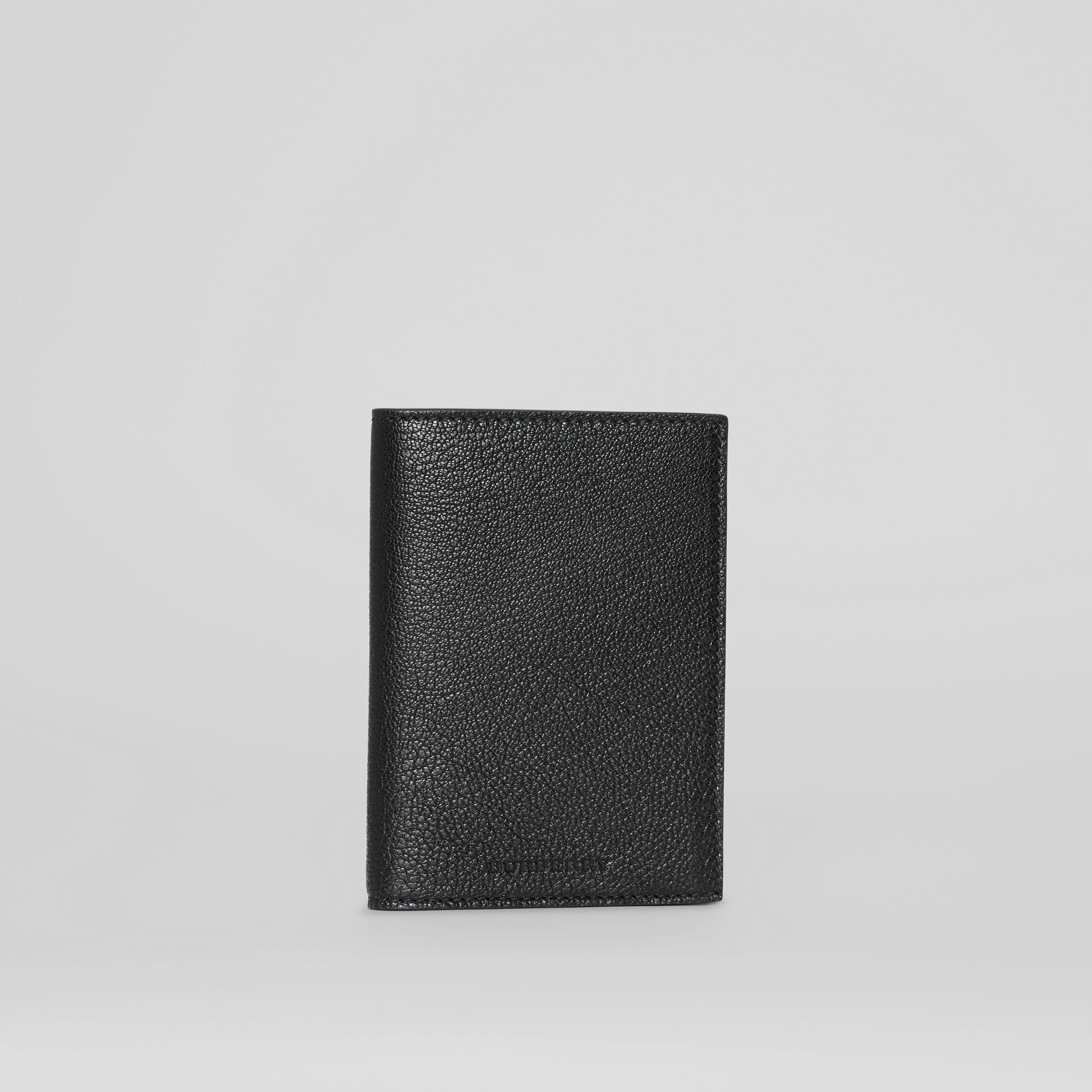 Leather Passport Holder in Black | Burberry - gallery image 3