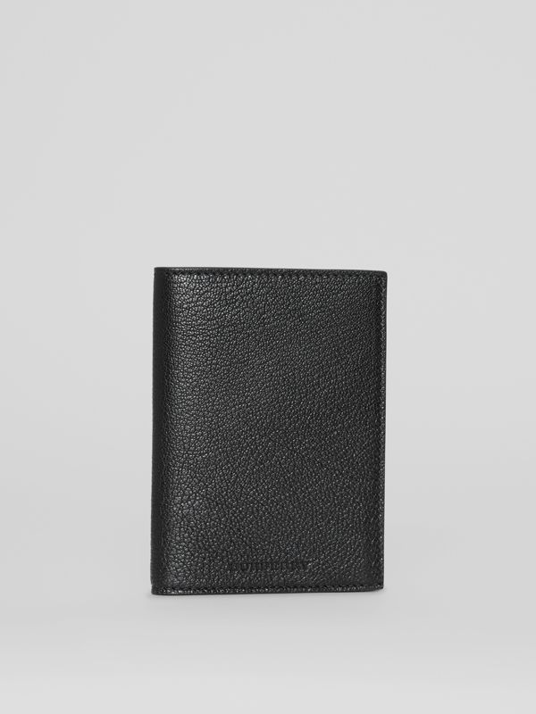Leather Passport Holder in Black | Burberry - cell image 3