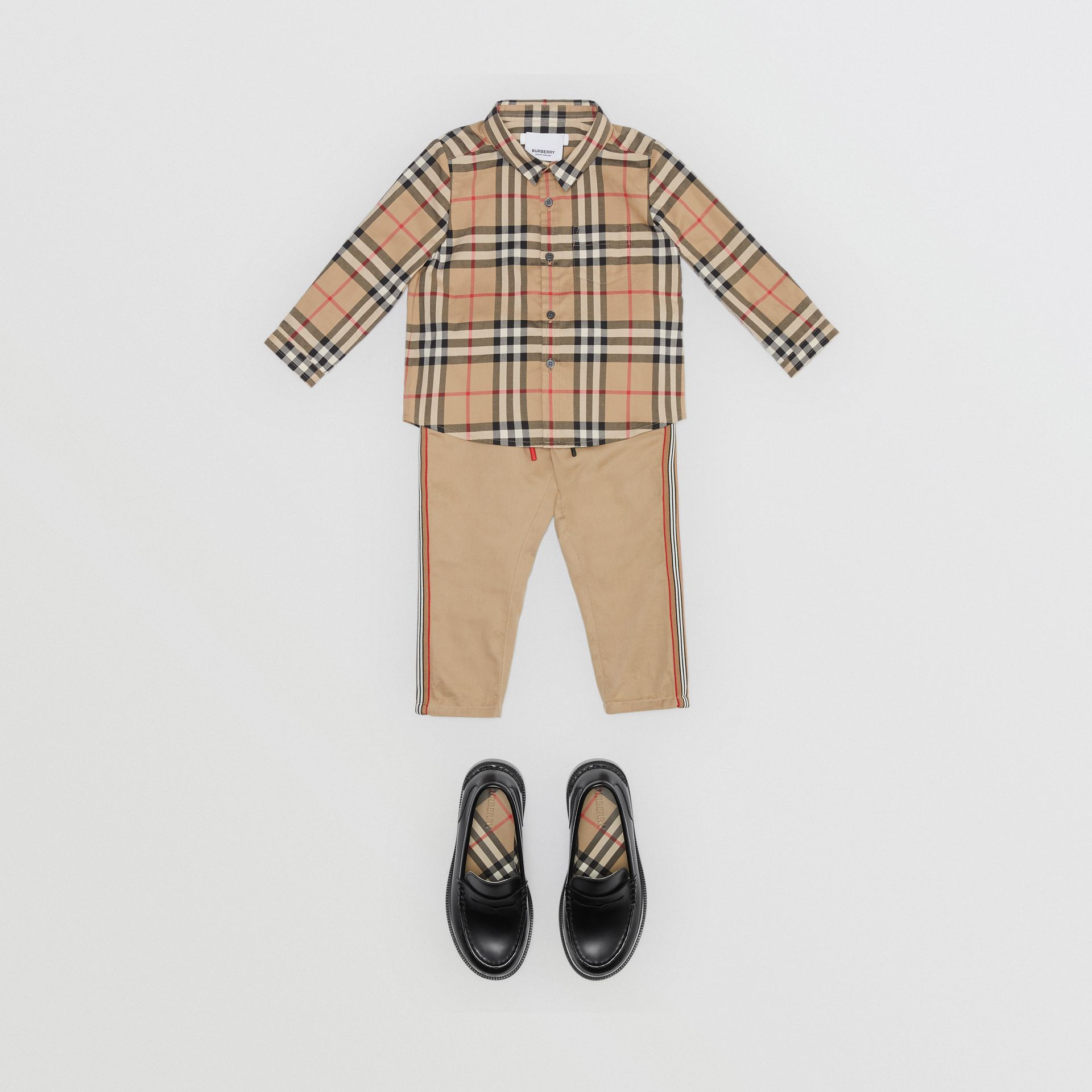 Vintage Check Cotton Shirt in Archive Beige - Children | Burberry Australia - gallery image 2