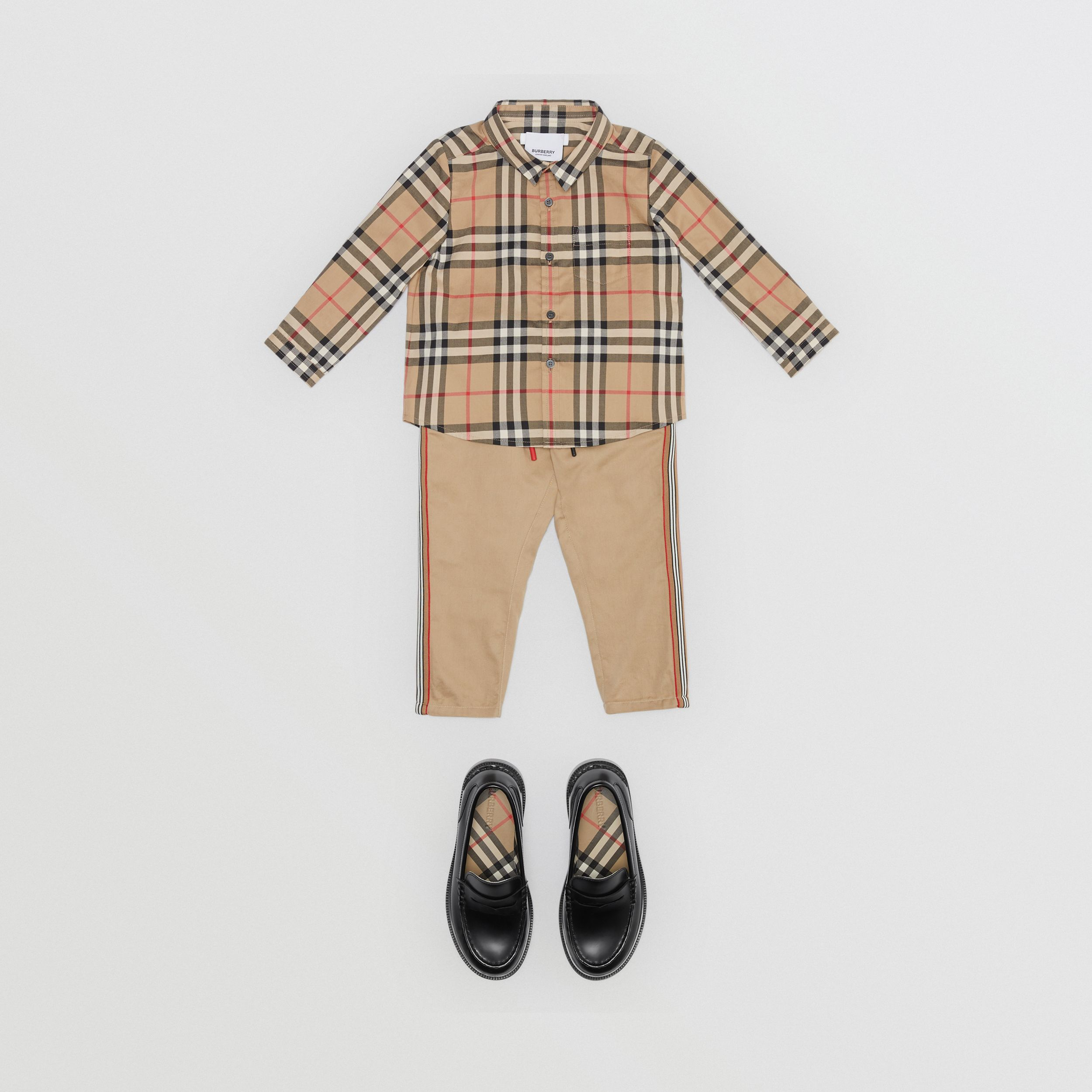 Vintage Check Cotton Shirt in Archive Beige - Children | Burberry - 3