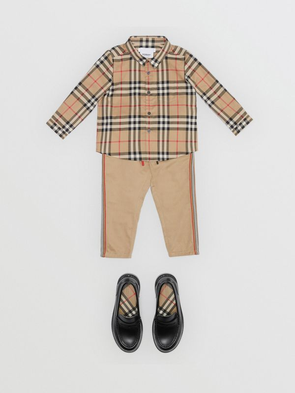 Vintage Check Cotton Shirt in Archive Beige - Children | Burberry Australia - cell image 2