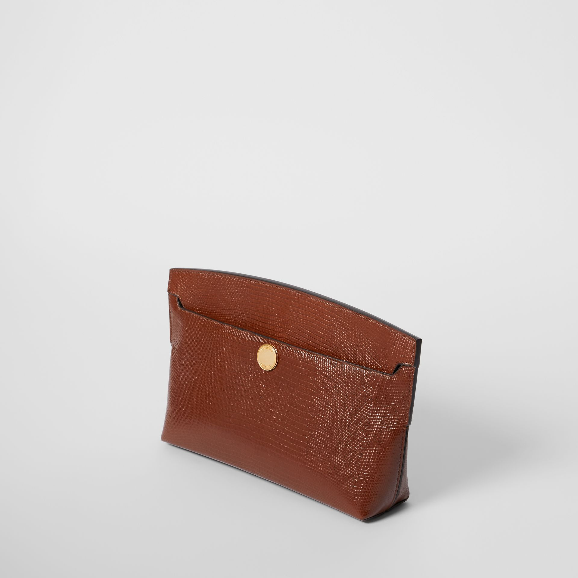 Embossed Deerskin Society Clutch in Tan - Women | Burberry - gallery image 2