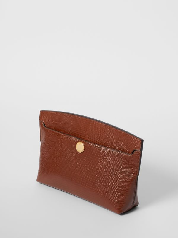 Embossed Deerskin Society Clutch in Tan - Women | Burberry - cell image 2