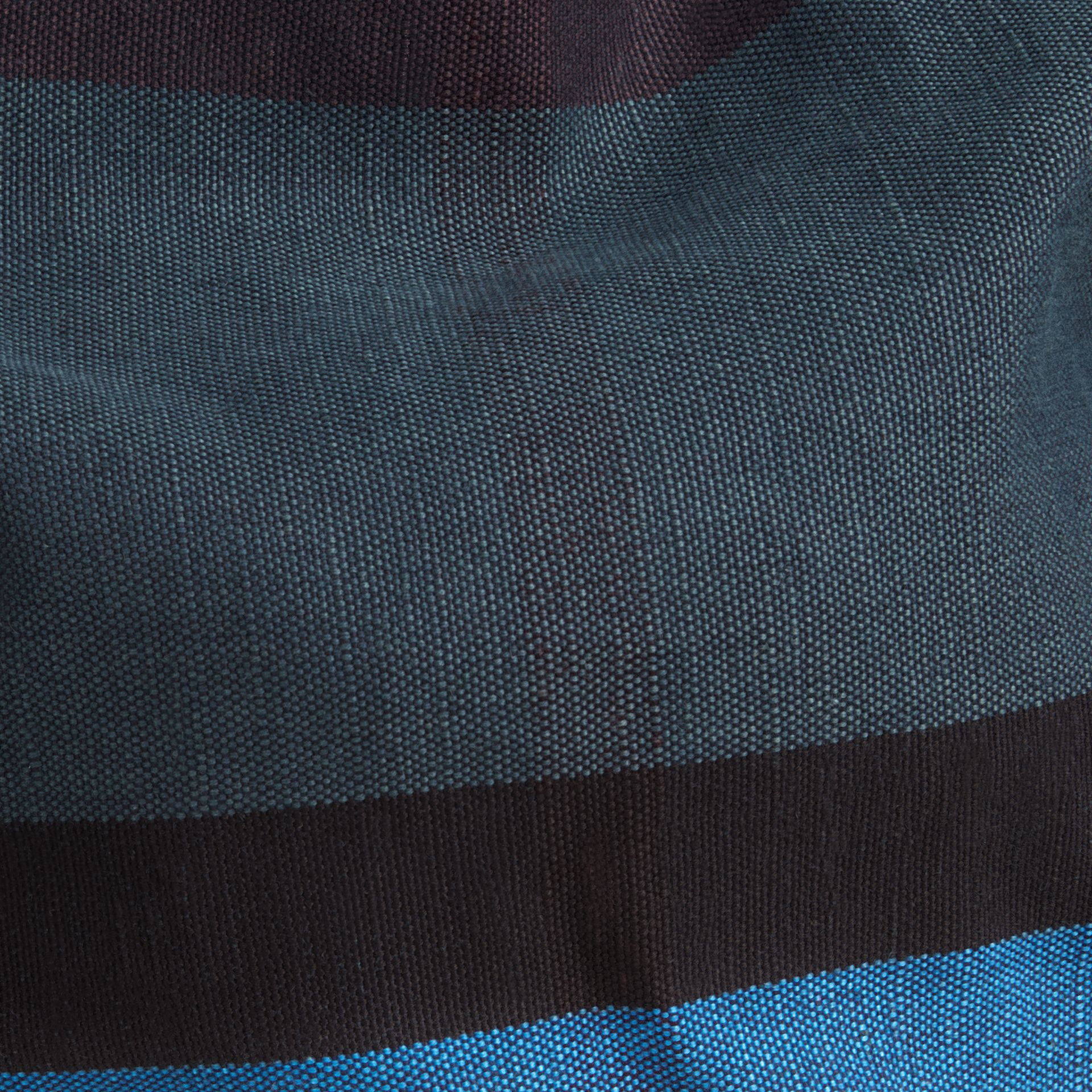 Ultramarine blue The Medium Ashby in Overdyed Canvas Check and Leather - gallery image 6