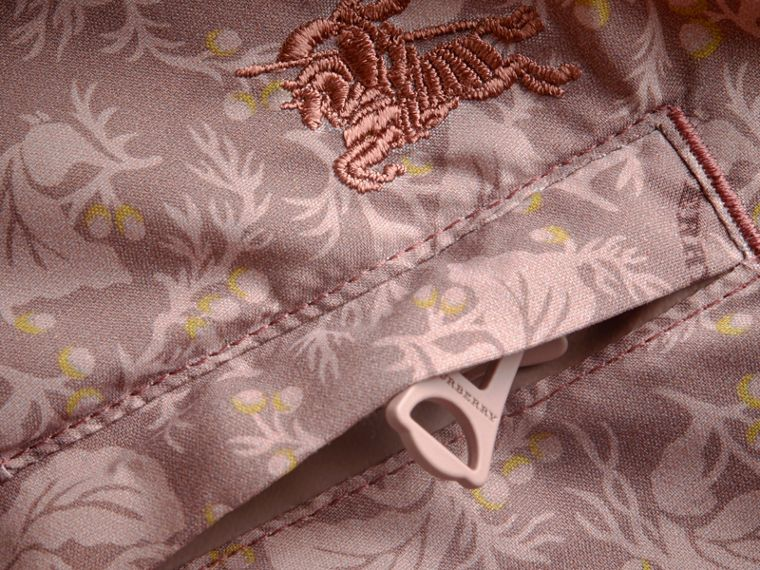Leaf Print Swim Shorts in Mauve - Men | Burberry - cell image 1