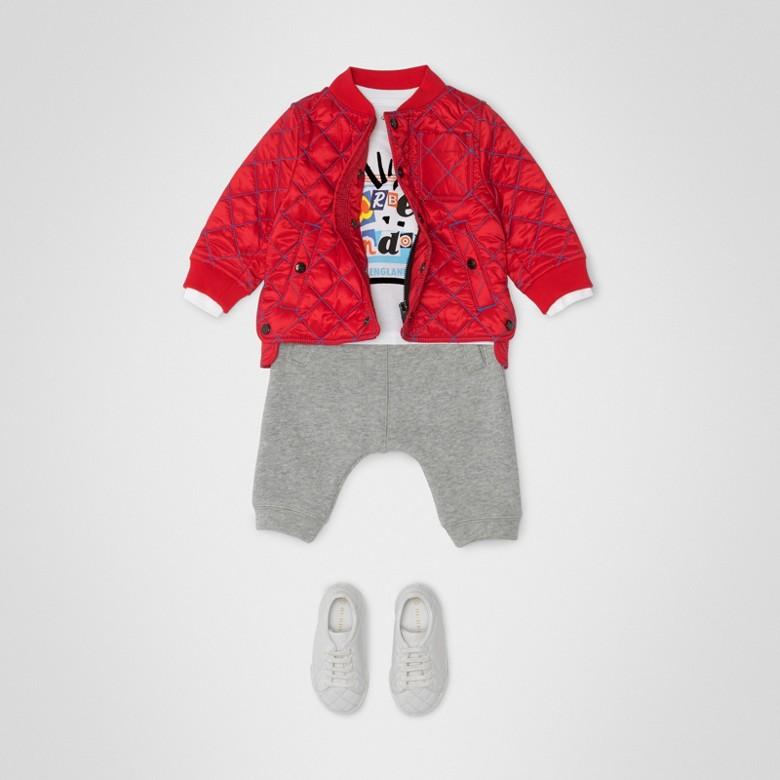 Burberry - Pantalon de survêtement en jersey de coton à rayures iconiques - 3