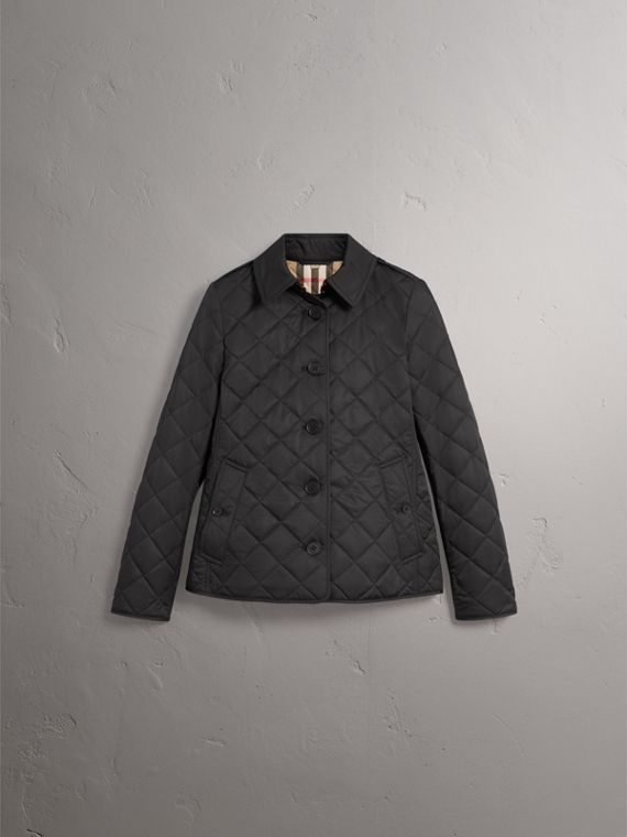 Diamond Quilted Jacket in Black - Women | Burberry Hong Kong - cell image 3