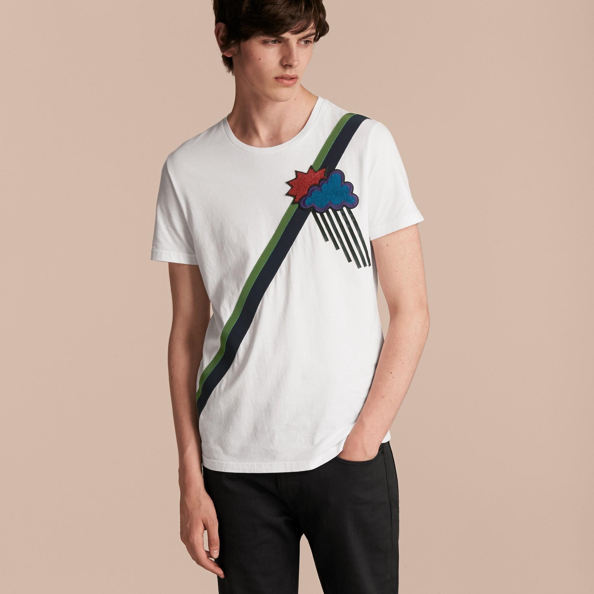 Weather Appliqué Cotton T-shirt - gallery image 6