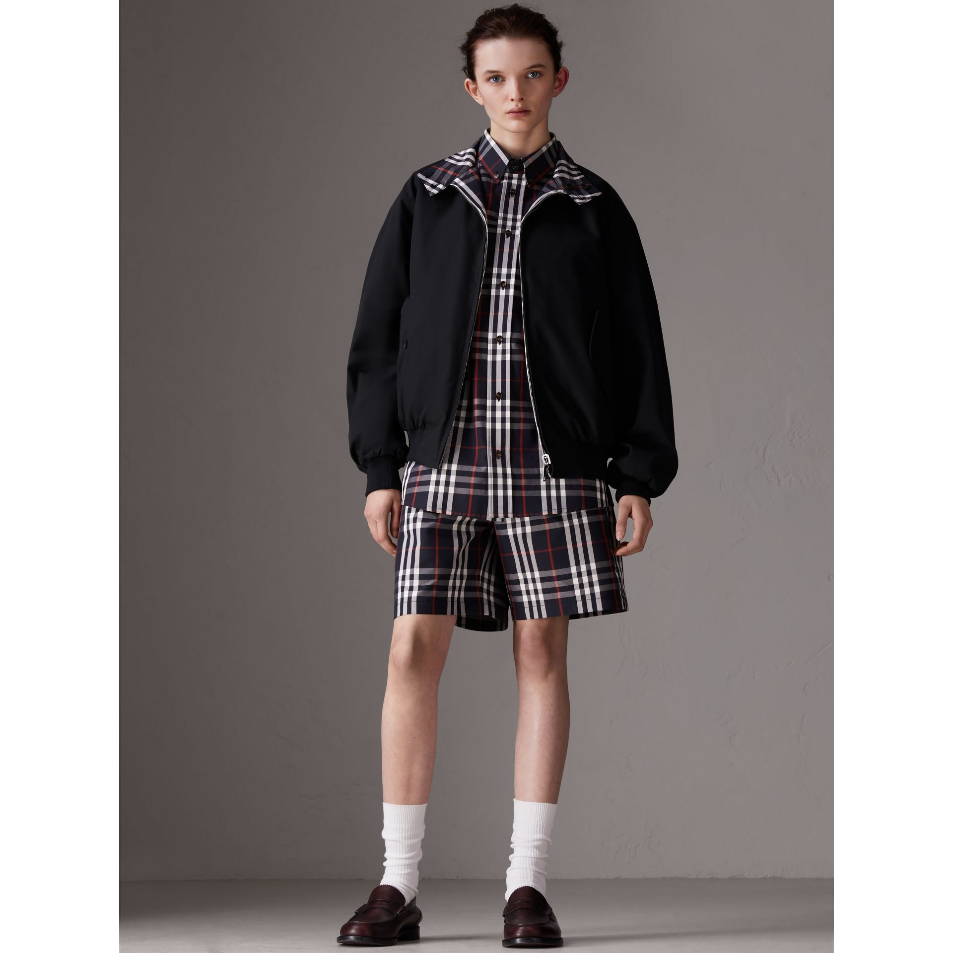 Gosha x Burberry Tailored Shorts in Navy | Burberry - gallery image 3