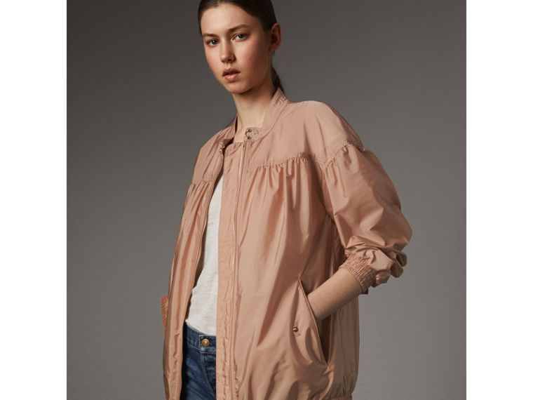 Ruched Showerproof Jacket in Ivory Pink - cell image 4