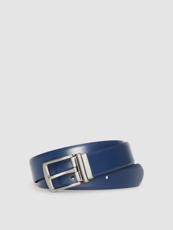 Reversible Leather Belt in Navy/black