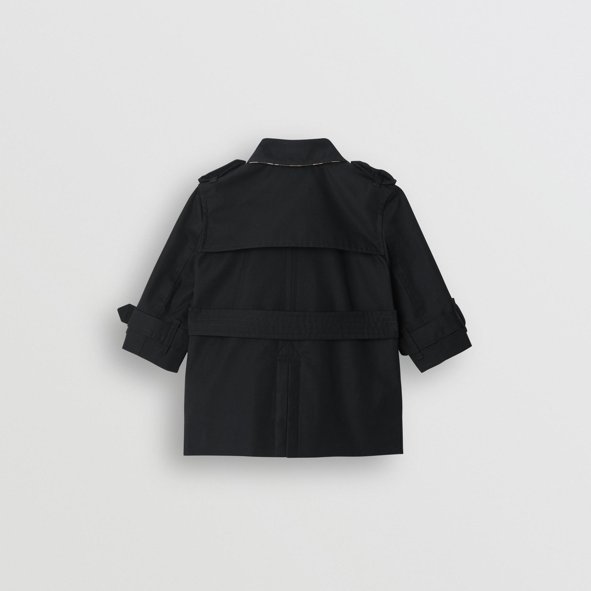 Cotton Gabardine Trench Coat in Black - Children | Burberry United Kingdom - gallery image 4