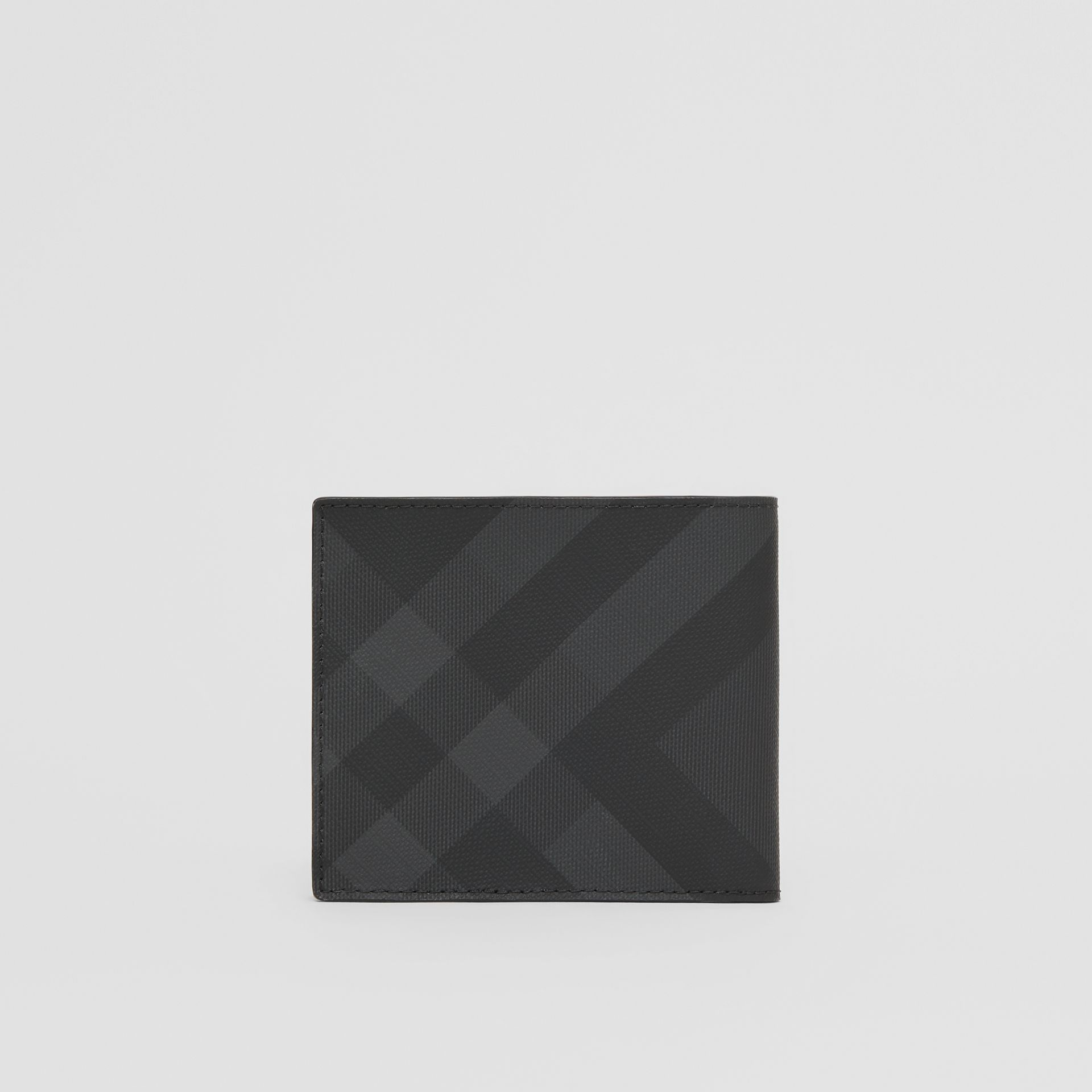 London Check International Bifold Coin Wallet in Dark Charcoal - Men | Burberry - gallery image 4
