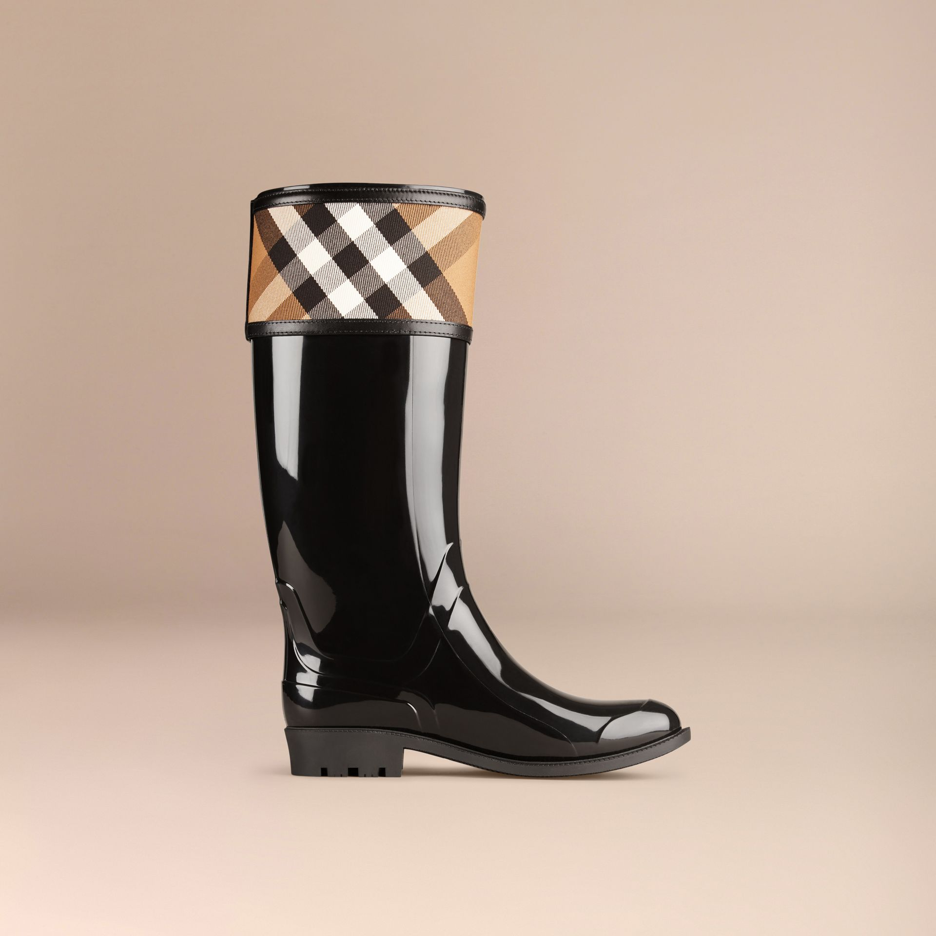 House check/black House Check Rain Boots - gallery image 3