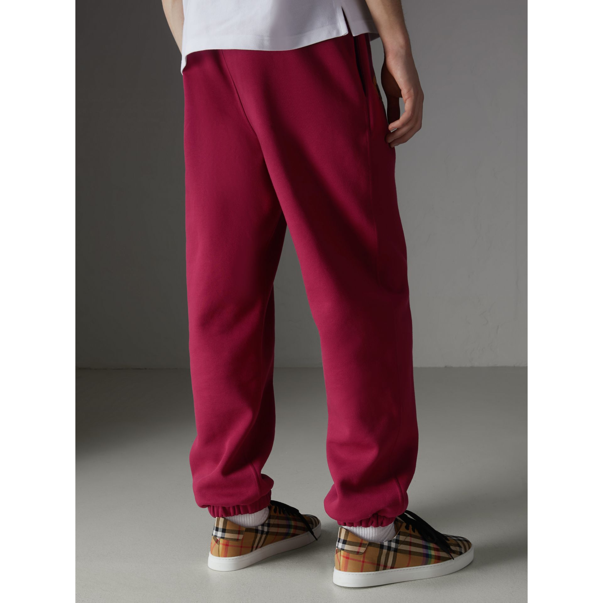 Archive Logo Jersey Sweatpants in Light Burgundy - Men | Burberry Singapore - gallery image 2
