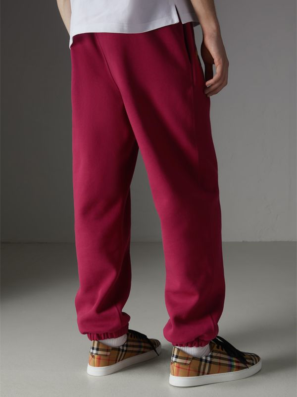 Archive Logo Jersey Sweatpants in Light Burgundy - Men | Burberry Canada - cell image 2