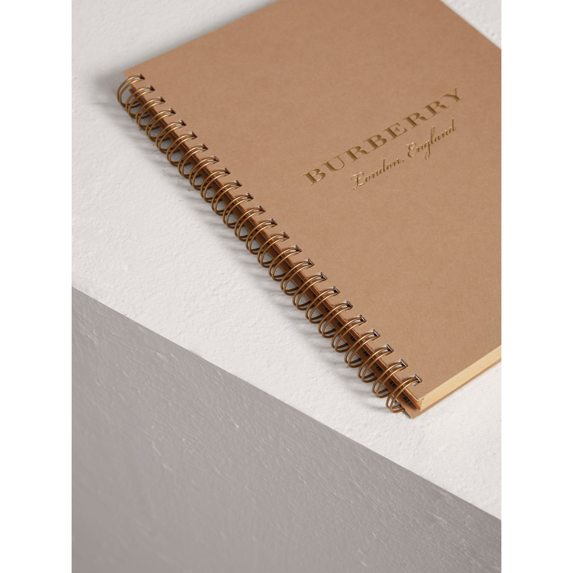 A5 Notebook Refill in Honey | Burberry United States - gallery image 2