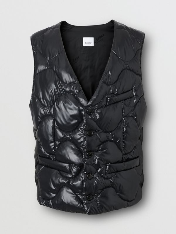 Nylon Puffer Waistcoat in Black - Men | Burberry United States - cell image 3