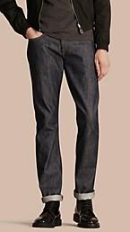 Straight Fit Deep Indigo Jeans