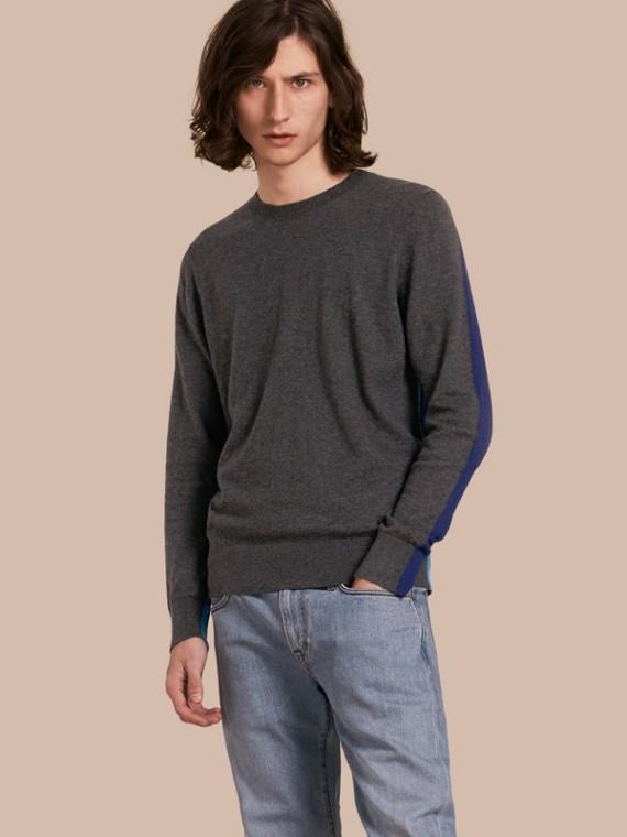 拼色喀什米爾棉質套頭衫