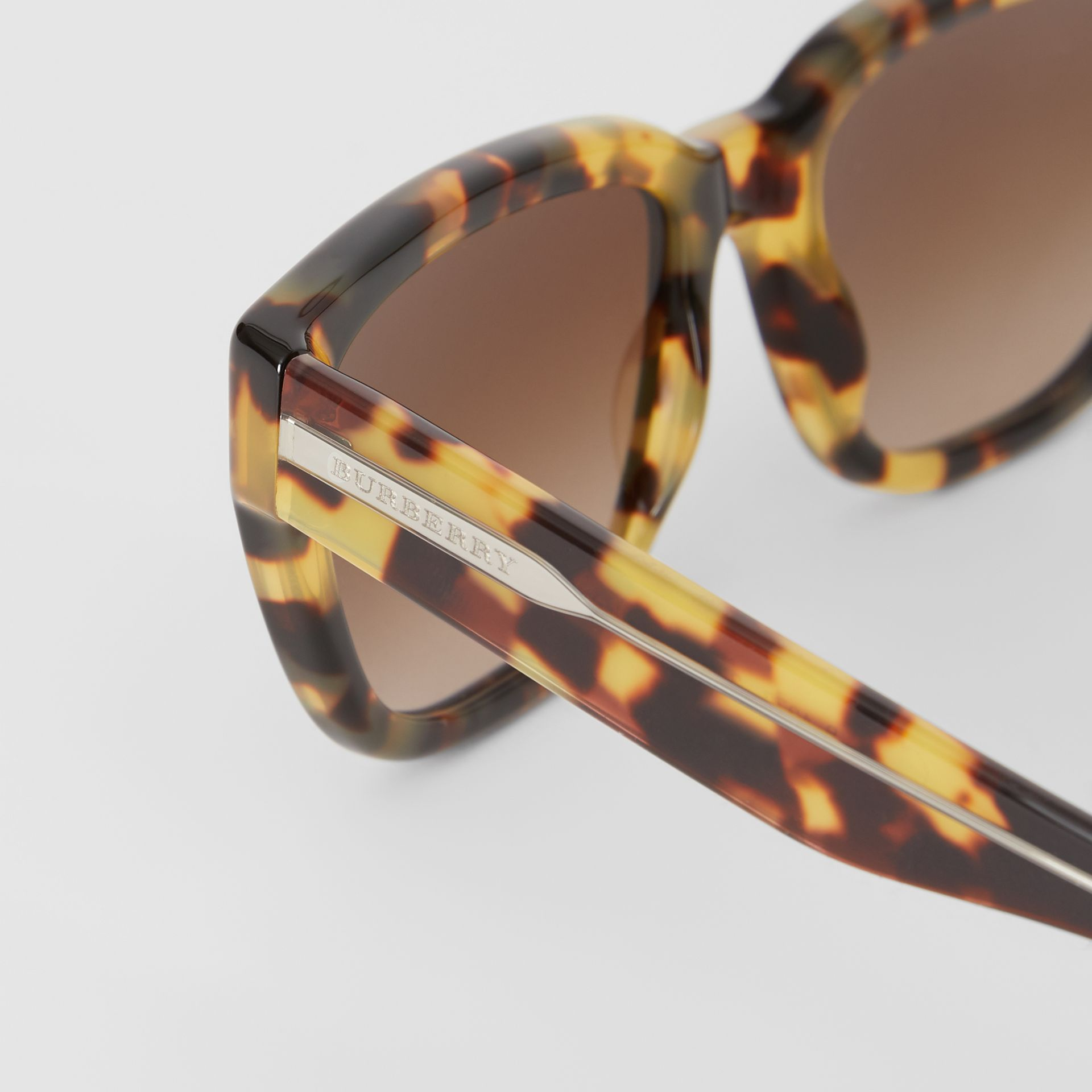 Square Frame Sunglasses in Tortoiseshell - Women | Burberry - gallery image 1