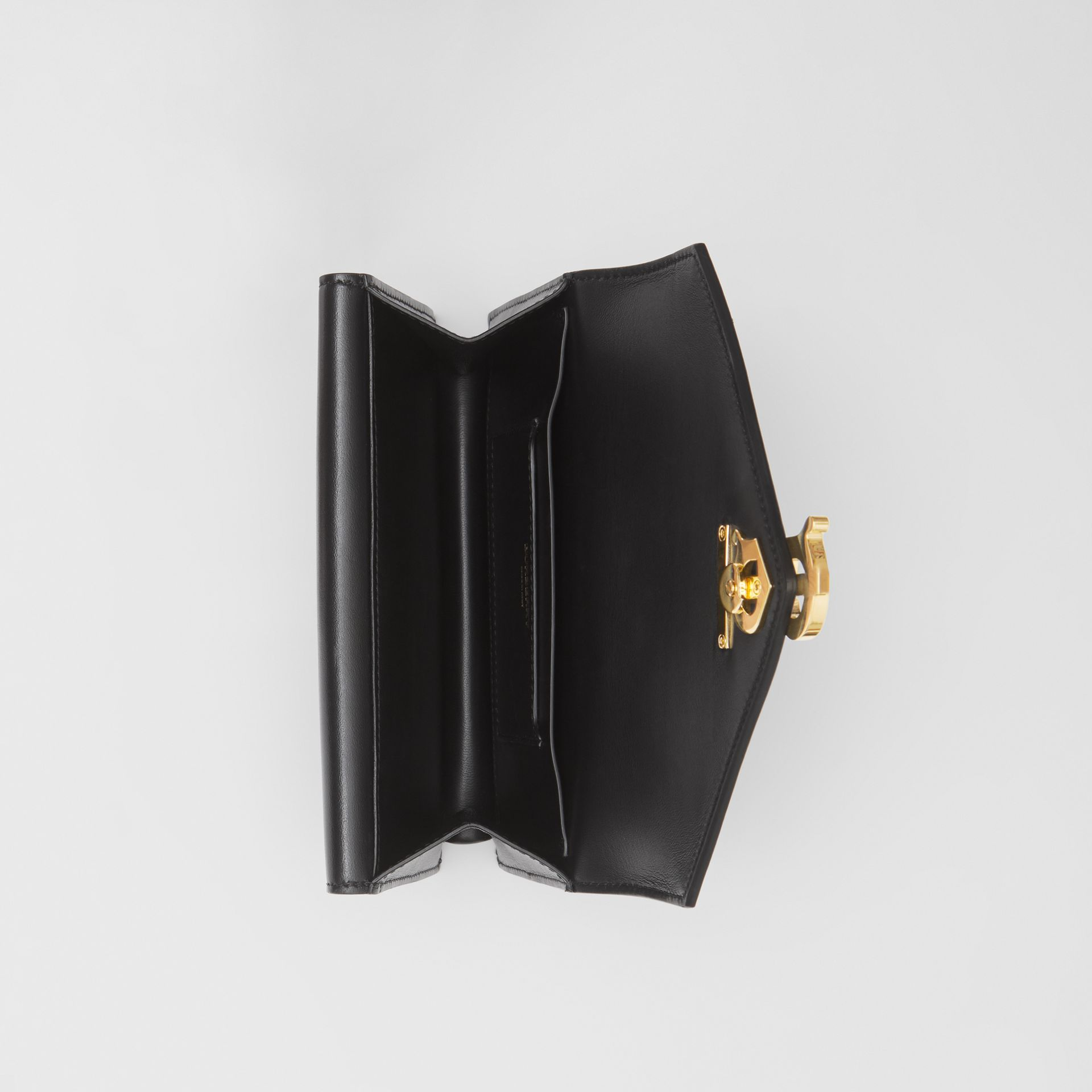 Quilted Lambskin Wallet with Leather Belt in Black - Women | Burberry United Kingdom - gallery image 3