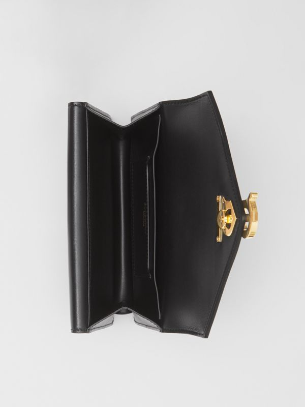 Quilted Lambskin Wallet with Leather Belt in Black - Women | Burberry United Kingdom - cell image 3