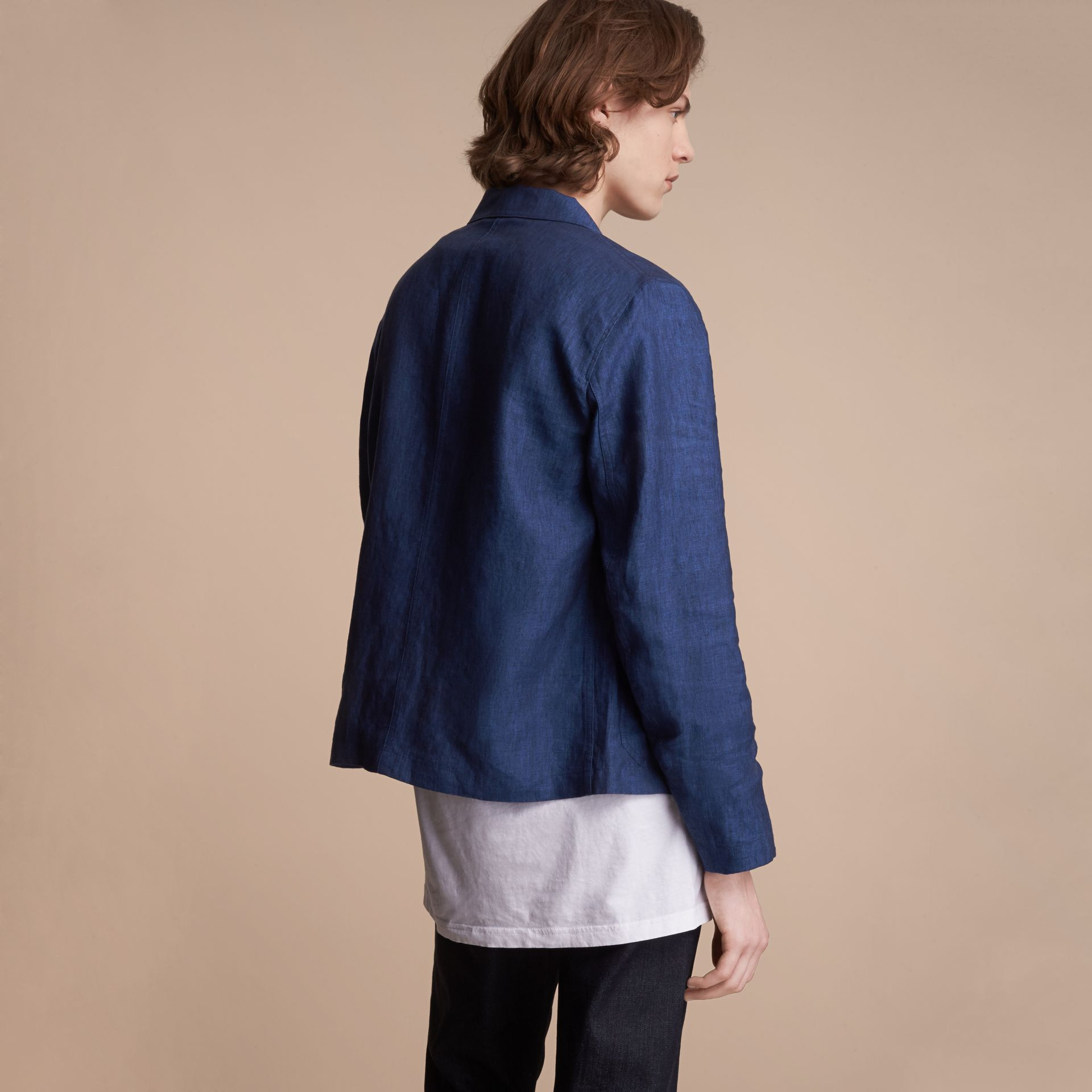 Linen Workwear Jacket - Men | Burberry - gallery image 3