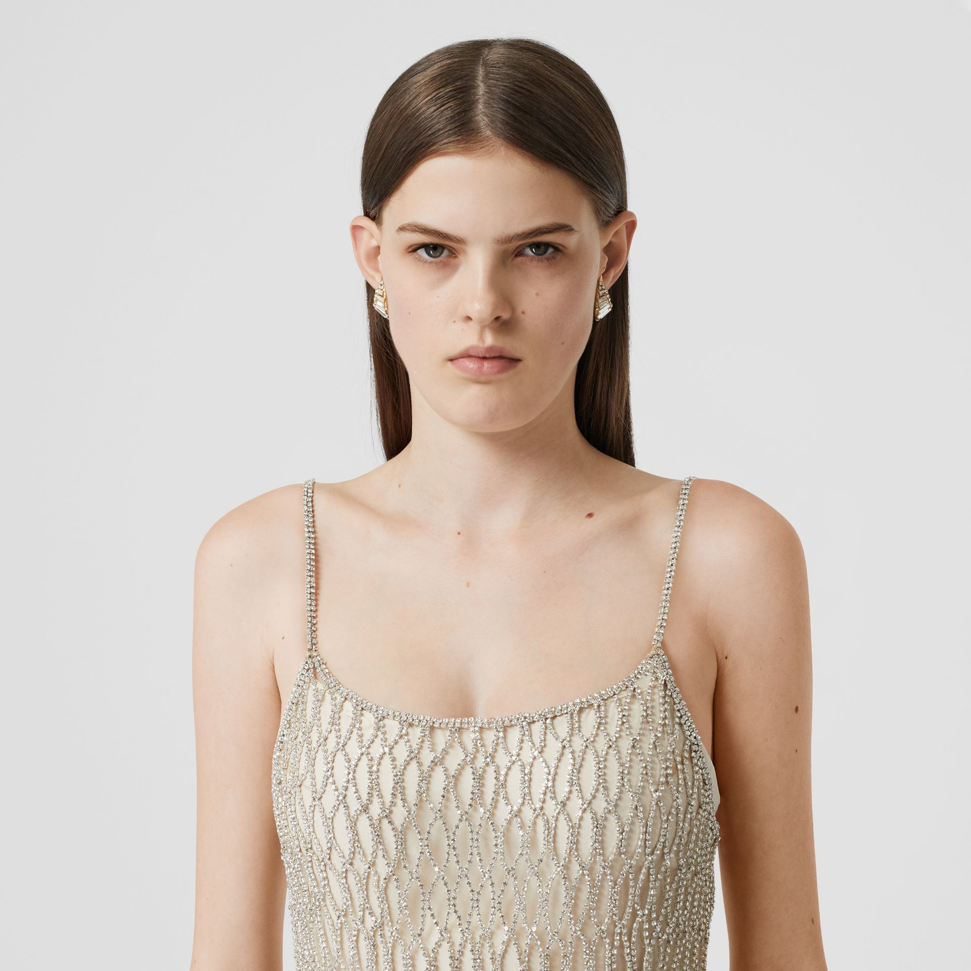 Crystal-embellished Tulle Slip Dress - Women | Burberry United Kingdom - gallery image 1