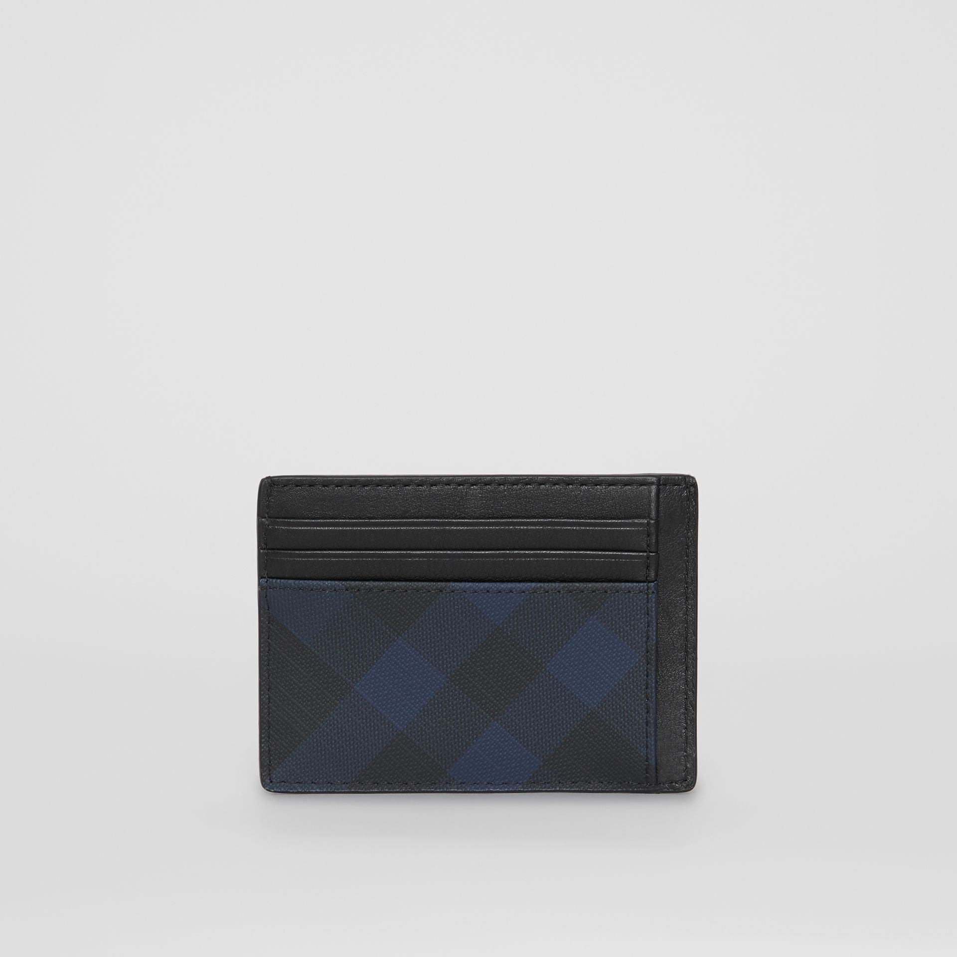 London Check and Leather Card Case in Navy/black - Men | Burberry Australia - gallery image 4