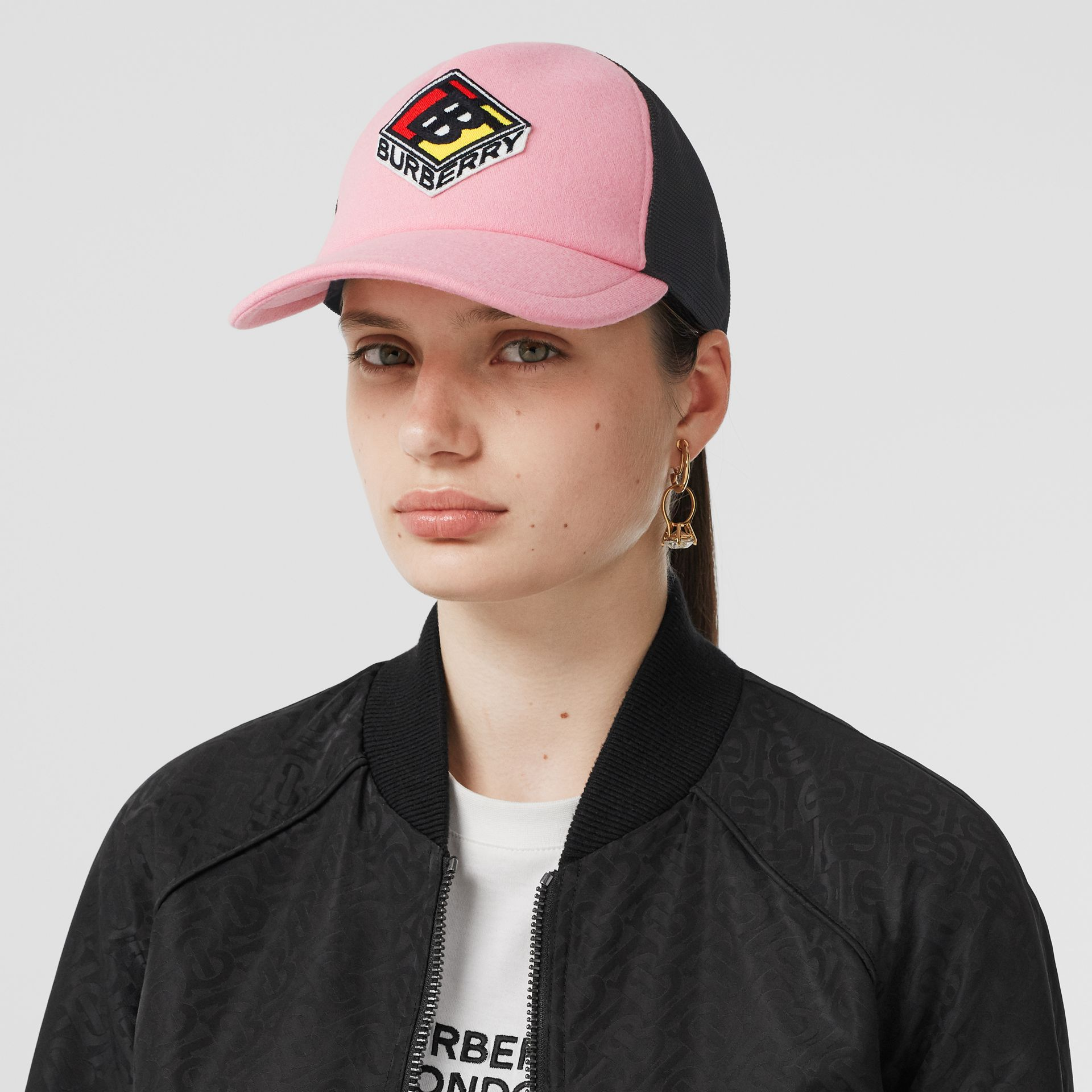 Logo Graphic Baseball Cap in Pink | Burberry - gallery image 2
