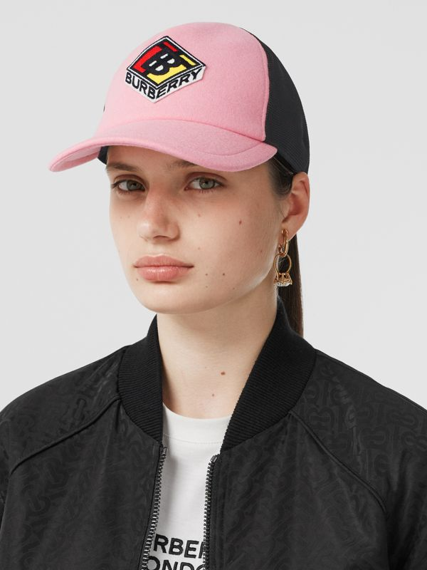 Logo Graphic Baseball Cap in Pink | Burberry - cell image 2