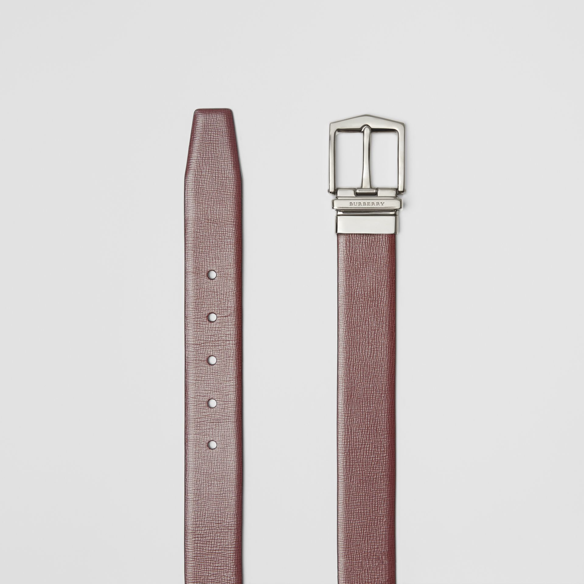 Reversible London Leather Belt in Burgundy Red/black - Men | Burberry Canada - gallery image 6