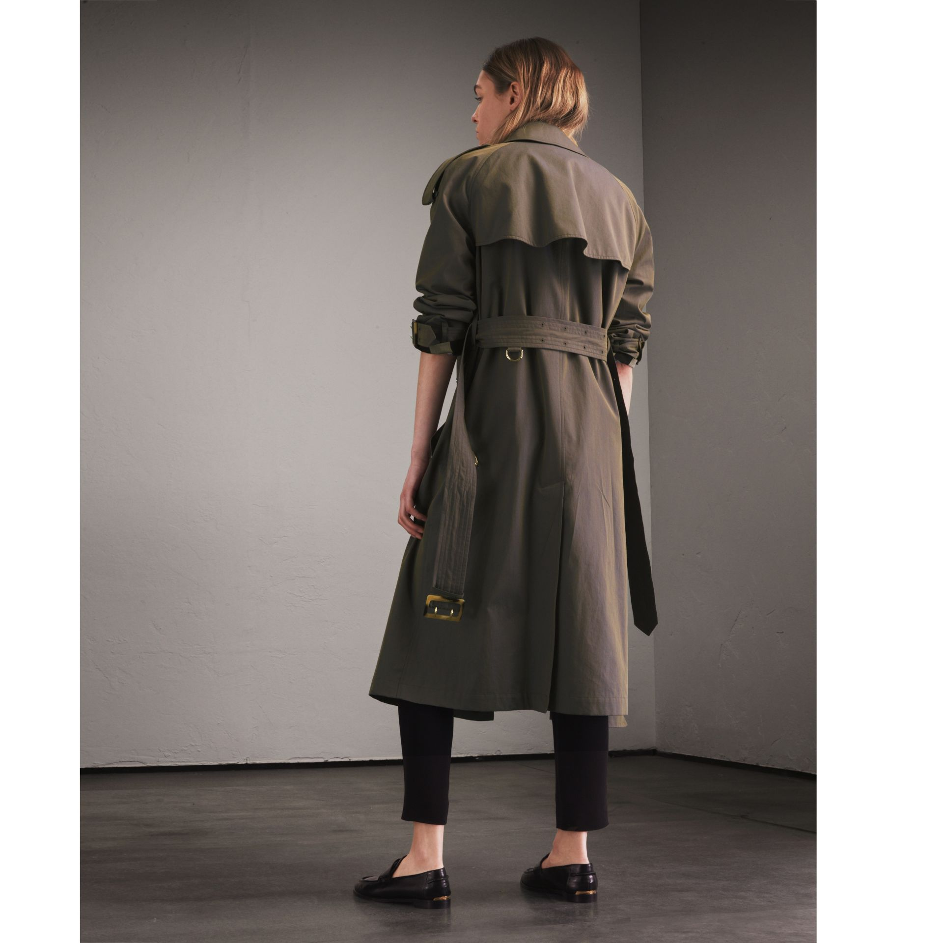 Storm blue Tropical Gabardine Trench Coat - gallery image 3