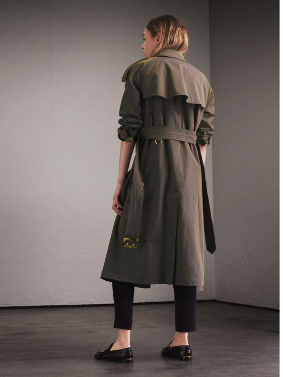 Storm blue Tropical Gabardine Trench Coat - cell image 2