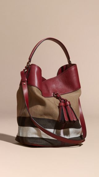 Sac The Ashby medium en toile Canvas check et cuir