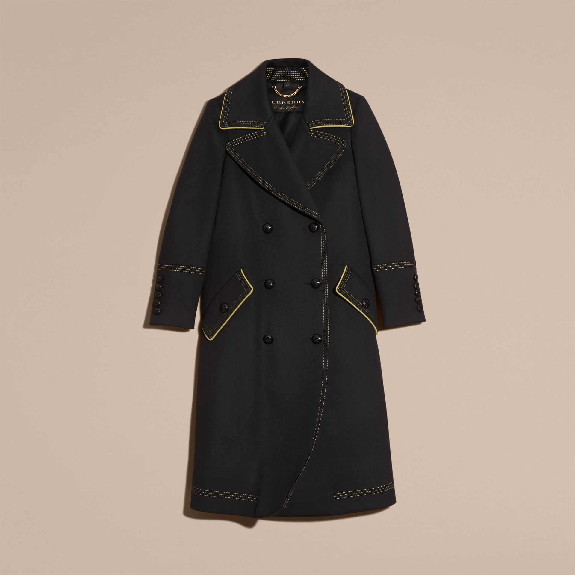Ink Tailored Wool Coat With Contrast Details - gallery image 4