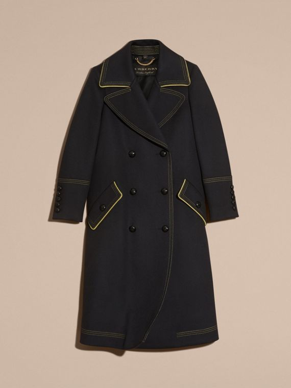Ink Tailored Wool Coat With Contrast Details - cell image 3