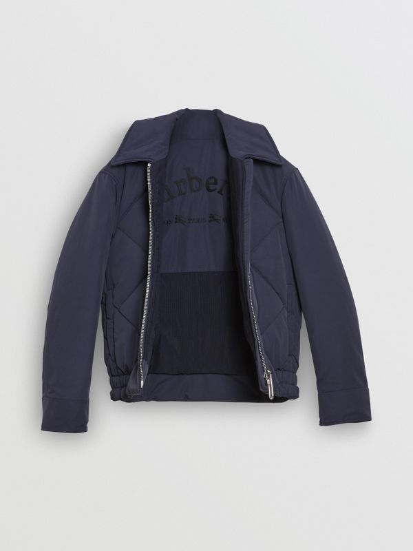 Quilted Technical Cotton-blend Jacket in Navy - Women | Burberry United States - cell image 3