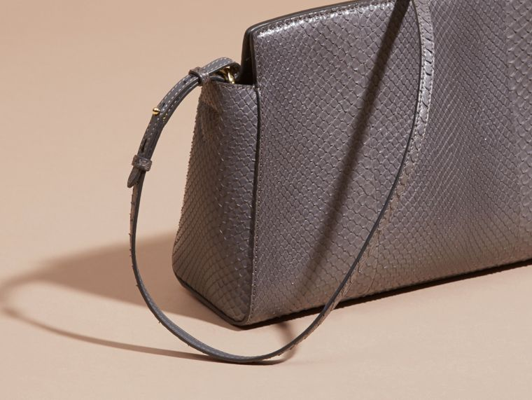 Sepia grey The Saddle Clutch in Python - cell image 4